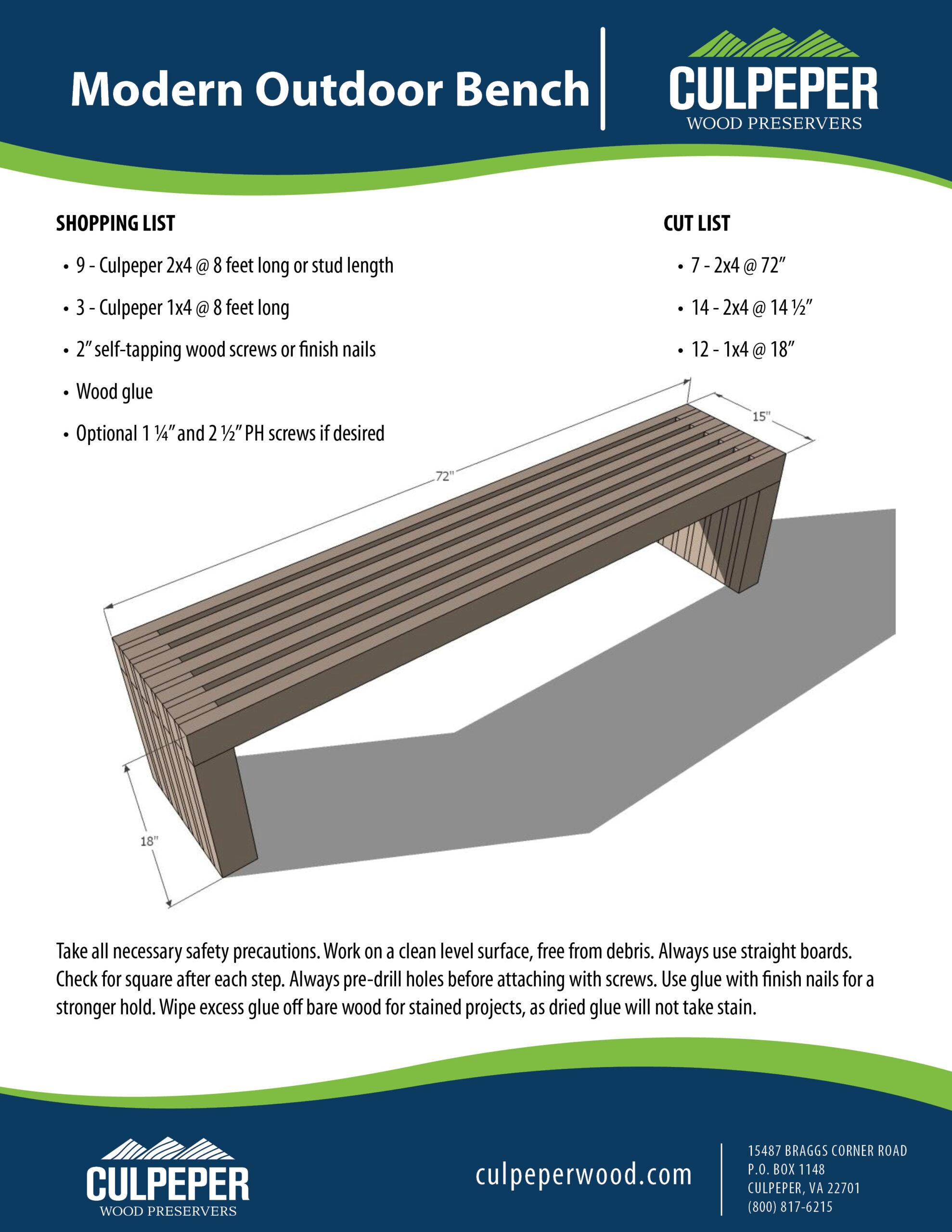 Modern Outdoor Bench KK042820