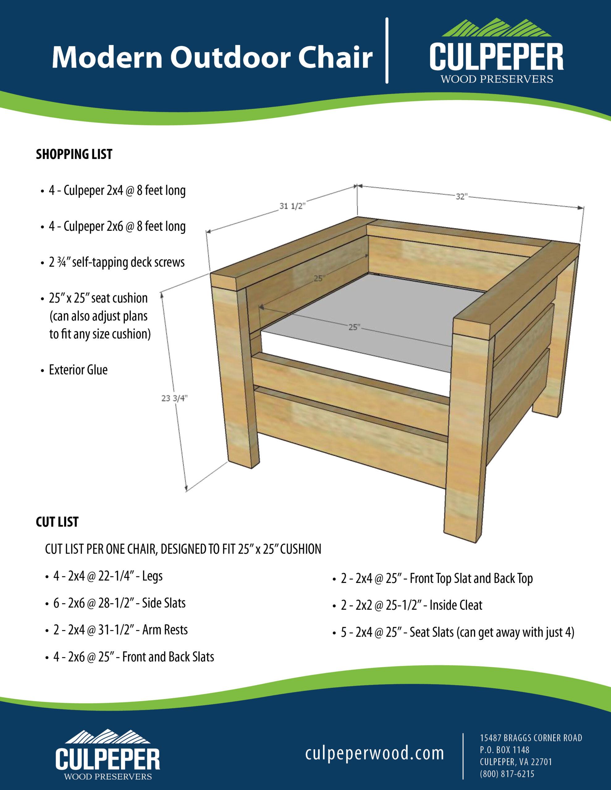Modern Outdoor Chair KK050520
