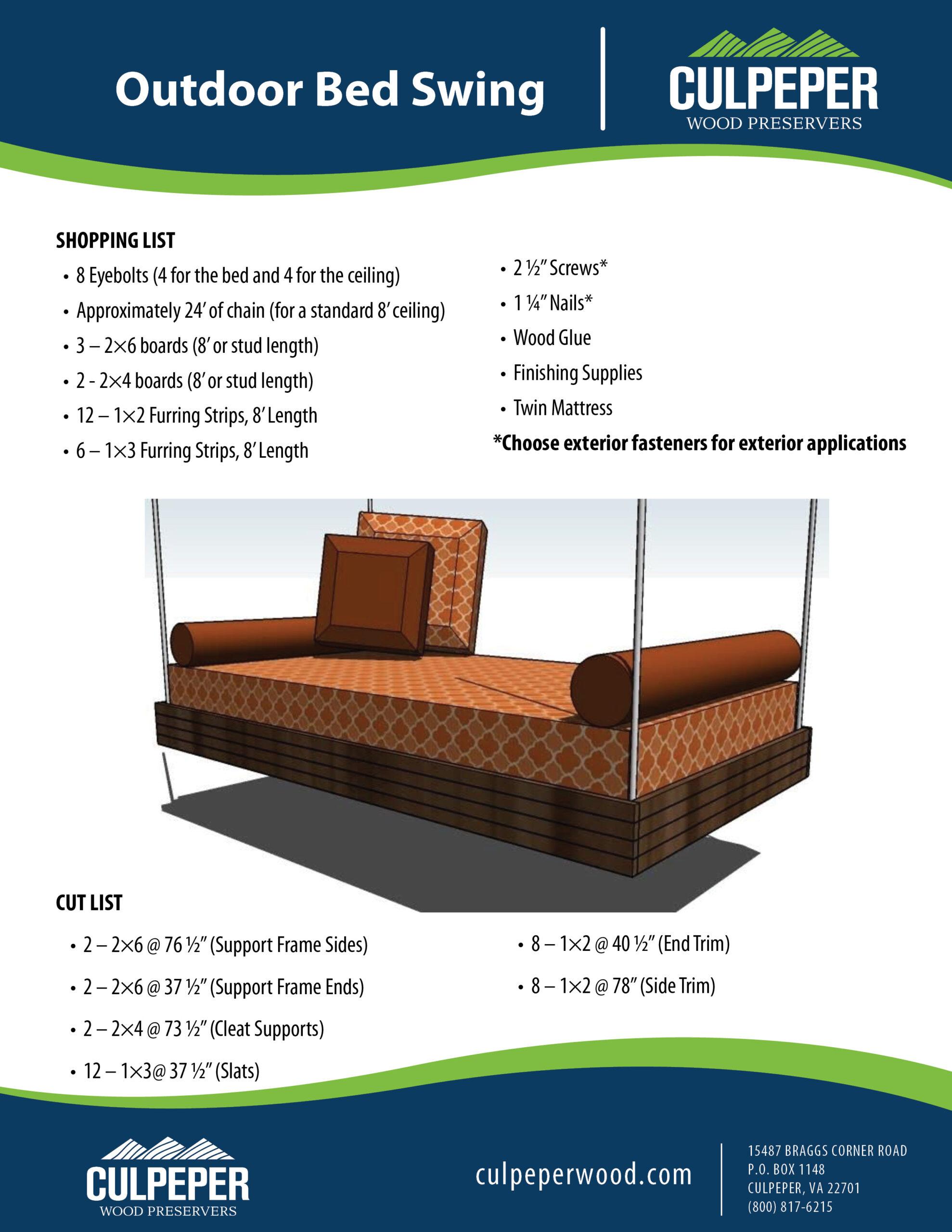 Outdoor Bed Swing KK050520