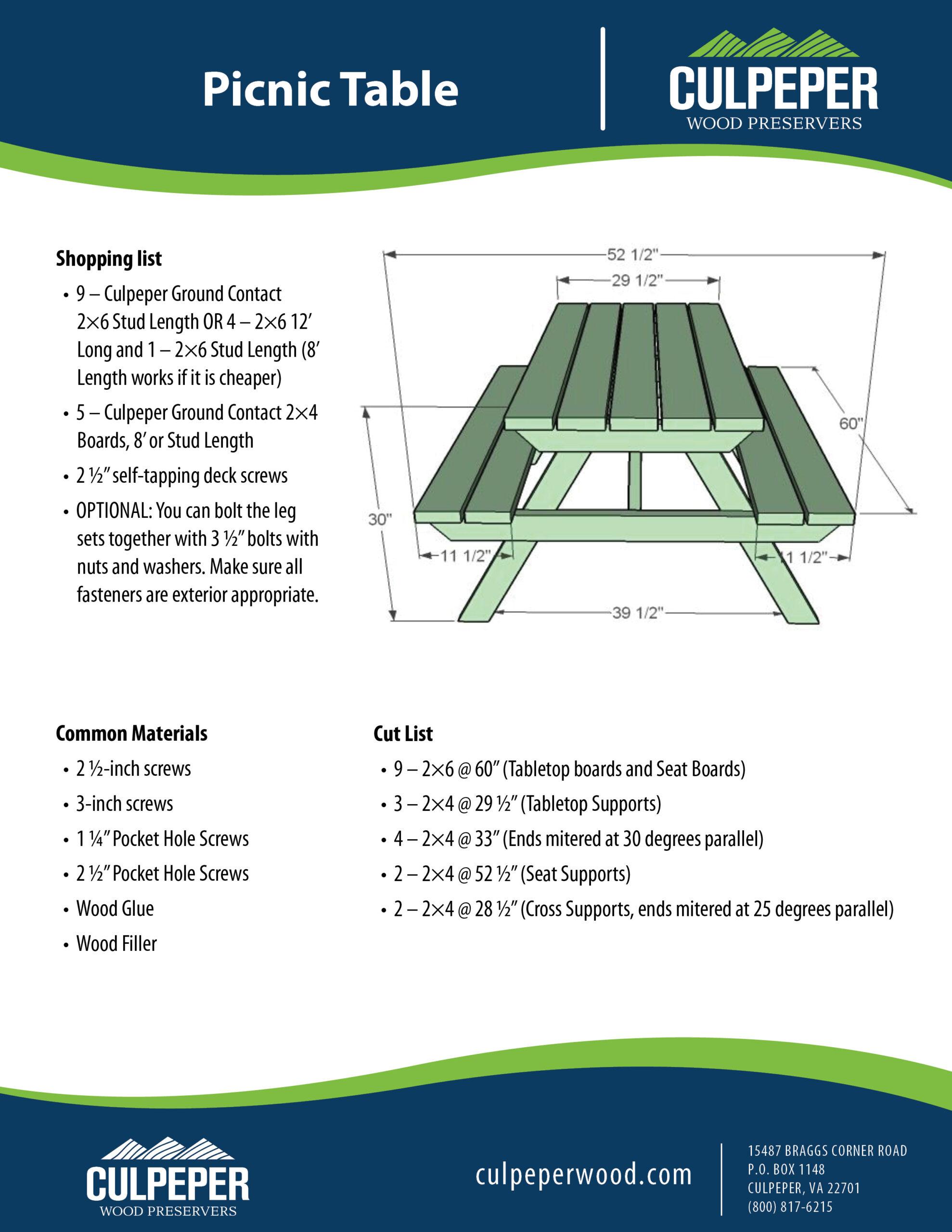 Picnic Table KK050520